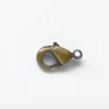Lukko, papukaijalukko, patinoitu, kullattua messinkiä, 7x5mm, silmukka, 1 kpl