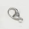 Lukko, hopea 925, papukaijamalli, 16x9mm (iso), valmistettu Italiassa, 1kpl
