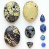 *Kapussi Mix* Luonnonkiviä kuten kuvassa (jaspis/marmori/jne.), luonnon sävyjä (väri stabiloitu/ehostettu), 9 kpl, eri muotoja, koko noin 4mm-20x15mm