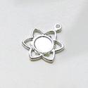 Maskotti, hopeoitua messinkiä *Erityismalli* KUKKA (11mm), kukan keskellä istutuspaikka (4mm), 5 kpl