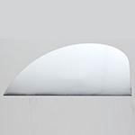 *Uusi malli* Massaleikkuri, erittäin terävä, ruostumatonta terästä, puoliympyrä & terävä kulma, 119x53mm, valmistettu Japanissa