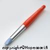 Muotoilutyökalu metallisaven muotoiluun, pehmeä silikonikärki, kapeneva tasainen pää, oranssi