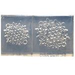 *Yksittäiskappale* Muotti, joustavaa silikonia, noin 50x35x5mm (pieni), Art Clay Exclusive, Pitsikoriste, 2 kokoa, läpimitat noin 30mm ja 20mm