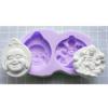 Muotti, joustavaa silikonia, Buddha / Lotuskukan haltija (muotin koko ulkomitta noin 80x50mm)