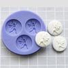 Muotti, joustavaa silikonia, Keiju, kolme muottia yhdessä, pieni (yhden osan läpimitta noin 16mm)