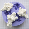 Muotti, joustavaa silikonia, Iso kukkakimppu: Ruusuja ja tulppaaneita (koko muotin ulkohalkaisija noin 11 cm), kolme muottia yhdessä
