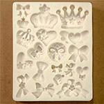 *uutuus* Muotti, joustavaa silikonia 'Kuningas ja Kuningatar' 19 erilaista, pienin noin 10mm, suurin noin 30mm