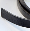 *Poistomyynti -huom mitta* Nauha, aitoa nahkaa, musta, litteä, noin 8x1mm, 21cm