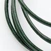 Nauha, aitoa nahkaa, tumman vihreä, pyöreä, 1.5mm, 1.5m
