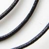 Nauha, puuvillaa, musta, laadukas vahattu nauha, 2mm, pyöreä, TUKKUPAKKAUS 10m