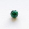 Malakiitti, helmi, vihreä, pyöreä, puoliväliinporattu, 6mm, 1 kpl