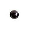 Onyksi, helmi, musta, v/t, puoliväliinporattu, 8mm, 1kpl