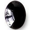 Onyksi, Kapussi, musta, v/t, soikea, noin 30x20mm, 1 kpl