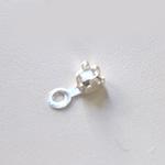Päätösosa, kiinnipuristettava, 2mm ketjulle, koko 2.5x2.5mm, hopeoitua messinkiä, 10kpl *Suunniteltu kuppiketjulle*