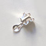 Päätösosa, kiinnipuristettava, 4mm ketjulle, koko 4.5x4.5mm, hopeoitua messinkiä, 10kpl *Suunniteltu kuppiketjulle*
