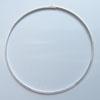 Kaulapanta, hopeoitua messinkiä, 40cm, litteä, pannan leveys 3mm, lukitus kuin kuvassa, 1 kpl