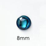 Paua-Abalone, pyöröhiottu kapussi, p/v, ympyrä, 8mm, 1 kpl