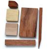 *Mallikappale* Puupala, eri puulajeja japanista (kuva malli), ihana yksityiskohta (esim. koruihin), vaihteleva lajitelma eri kokoisia/värisiä paloja, noin 12 gr
