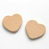 *Mallikappale B-luokka* Puupala, sydän (esim korun osaksi), 25x20x3mm, 2 kpl, VINKKI: Tee näistä ihanat korvakorut *puussa pieniä jälkiä*, OVH 1.95