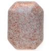 *Yksittäiskappale kuten kuvassa* Puna-harmaa (mahdollisesti jaspis), pyöröhiottu kapussi, kuvassa SP-10, suorakulmio, viistetyt nurkat, noin 40x30x7mm, uniikki kivi