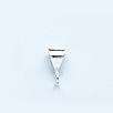 Salamatarjous - Vain torstaina 23.4 klo 12-15* Riipuslenkki, hopea 925 (Sterling), kolmikulmainen, ulkomitta noin 8X3mm, sisämitta noin 4x3mm, 1 kpl