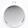*Uusi malli* Riipuspohja, hopeoitua messinkiä, pyöreä 20mm, 2 kpl