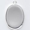 *Uusi malli* Riipuspohja, hopeoitua messinkiä, soikea, noin 25x20mm, reunuksessa 'helmikoristelu' 2 kpl