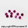 Synteettinen Rubiini, Tumma pinkki, pyöreä, 2mm, 10 kpl