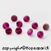 Synteettinen Rubiini, Tumma pinkki, Pyöreä, 3mm, 10kpl