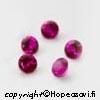 Synteettinen Rubiini, Tumma pinkki, Pyöreä, 4mm, 5kpl