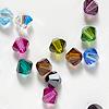 *Mallikappale-Poistoale* Swarovski Crystal, v�risekoitus kuin kuvassa, 4mm bicone, s�ihkyv� kristalli, viistehiottu, 38 kpl