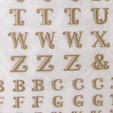 *Poistomyynti* Siirtokalvo: Aakkoset, isot kirjaimet, kulta, kahta kokoa: noin 6mm ja 4mm, soveltuu hienosti UV-hartsitöiden koristeluun
