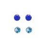 *SININEN sekoitus no.1* Spinelli: 3mmx2kpl, Synteettinen kirkas sininen kivi: 3mmx2kpl (yhteensä 4kpl)