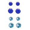 *SININEN sekoitus no.2* Spinelli: 3mmx2kpl, 4mmx2kpl, Synteettinen kirkas sininen kivi: 3mmx2kpl, 4mmx 2kpl (yhteensä 8kpl)