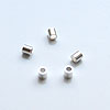 *Erä* Helmi, hopea 925, kiinnityshelmi, (puristushelmi) 2x2mm, 3 kpl