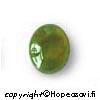 *Poistomyynti -huom kivessä tumma täplä* Jade, Kapussi, Soikea, 12x10mm, 1kpl