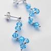 S-työohje Kiertyvät Kristallit Korvakorut