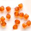 Helmi, Swarovski Crystal, Oranssi, 4mm, bicone (säihkyvä heijastus), 8 kpl