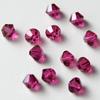 Helmi, Swarovski Crystal, Fuksian punainen, 4mm, bicone (säihkyvä heijastus), 8 kpl