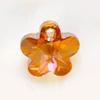 *Muuttoale* Swarovski Helmi, lasia, viistehiottu kukka, 12mm, lämmin kupariväri, 1 kpl