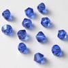 Helmi, Swarovski Crystal, Safiirin sininen, 4mm, bicone (säihkyvä heijastus), TUKKUPAKKAUS 48 kpl