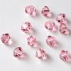 Helmi, Swarovski Crystal, Pinkki, 4mm, bicone (säihkyvä heijastus), TUKKUPAKKAUS 48 kpl