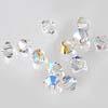 Helmi, Swarovski Crystal, Kirkas, 4mm, bicone (säihkyvä heijastus), 8 kpl