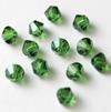 Helmi, Swarovski Crystal, Saniaisen vihreä, 4mm, bicone (säihkyvä heijastus), TUKKUPAKKAUS 48 kpl