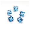 Synteettinen Kirkas Sininen kivi, neliö, 4x4 mm, 2 kpl