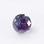 *Erä* Synteettinen zirkonia 'Fantasia' 2-värinen: purppura/ Aqua-sininen, pyöreä, 5mm, kestää hopeasavipolton