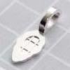 Riipuslenkki, hopeoitu, riipuksen tekemiseen, keskikokoinen, noin 20x8mm, lenkin sisämitta 3x3mm, 1 kpl