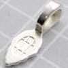 Riipuslenkki, hopeoitu, riipuksen tekemiseen, iso, noin 25x10mm