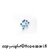 Synteettinen Kirkas Sininen kivi, Pyöreä, 1mm, 10kpl