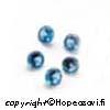 Synteettinen Kirkas Sininen kivi, Pyöreä, 4mm, 4 kpl
